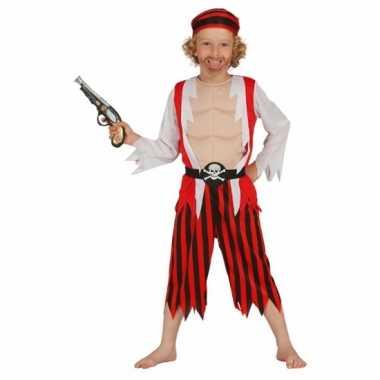 Rood piraten pak voor kinderen