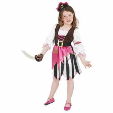 Roze piraten carnavalspak